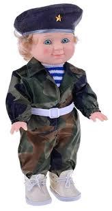 Интерактивная <b>кукла Весна Митя</b> военный, 34 см, В1970/о ...