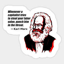 Karl Marx: Throat Punch (white)