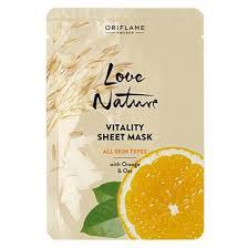 Обновляющая <b>тканевая маска с</b> апельсином и овсом Love Nature ...