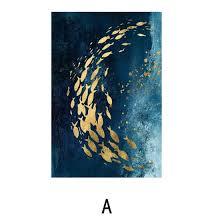 Shop (Toponeto) Decorative Painting <b>Nordic Modern</b> Golden Fish ...
