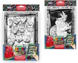 <b>Danko Toys 3D</b> Art Антистресс <b>раскраска</b> (3DA-01-04) - цены в ...
