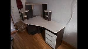полная пошаговая сборка изделия, компьютерный стол каспер ...