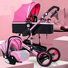 3 in 1 <b>luxury</b> Pram <b>High landscape</b> baby stroller can sit reclining ...