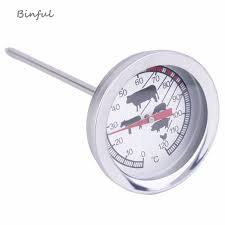 <b>Stainless Steel Instant Read</b> Pocket Probe digital Thermometer BBQ ...