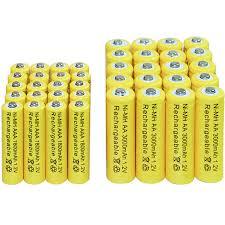 50pcs 1800mah ni mh aaa battery ni mh 1 2v neutral rechargeable battery batteries free shipping