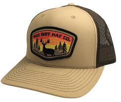 """Deer Patch "" <b>Khaki</b> / <b>Coffee</b> - <b>Red</b> Dirt Hat Co"