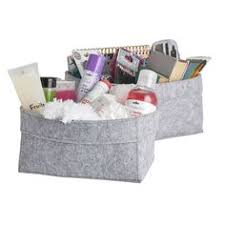 <b>Felt Storage Basket</b>, Gray Toy Box Bin Catchall, Christmas Xmas ...