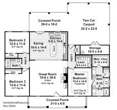 Small House Floor Plans   Small Country House Plans   House Plans    open front porch on small country house floor plan by familyhomeplans com