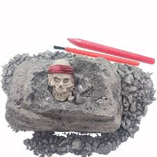 <b>MINI DIG OUT</b> KIT! 2019 hot sale Pirate Skull Excavation Dig it Out ...