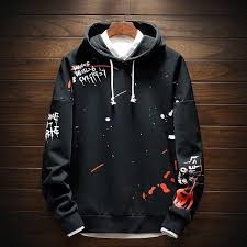 <b>Men Hoodie</b> Japanese Streetwear Hip Hop <b>Hooded Sweatshirt</b> in ...