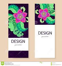 banner template flowers doodle sample leaflets flyers stock banner template flowers doodle sample leaflets flyers