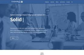 landing page themes itty design a corporate and professional theme a modern presentation design is ideal as a multi page website for any small business looking to cover products and