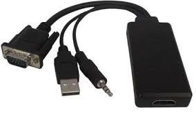 microware <b>VGA Male to HDMI</b> Female 6.5 m HDMI Cable ...