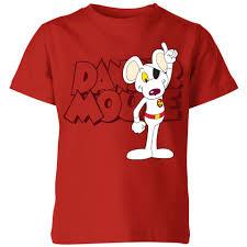 <b>Danger Mouse</b> Pose Kids' <b>T</b>-<b>Shirt</b> - Red | IWOOT