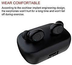 True Wireless Earbuds - 120 Hours Total - <b>Bluetooth Earphones V5</b> ...