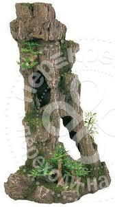 <b>Грот для аквариумов Trixie</b> Скалы с пещерой и растениями 17см ...