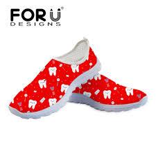 <b>FORUDESIGNS</b> Flats Shoes Women <b>Fashion Cartoon</b> Cute Dentist ...