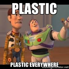 PLASTIC PLASTIC EVERYWHERE - Buzz Lightyear Everywhere Meme | Meme ... via Relatably.com
