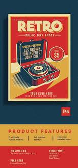 '<b>Retro Music</b> Dox Party', Poster, (2000s) - 'PS' Adobe Photoshop ČS ...
