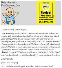 unser service babysitter info als vorlage atrium revival blog unser service babysitter info als vorlage