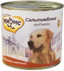 <b>Мнямс консервы</b> для собак <b>Сальтимбокка по-римски</b> (телятина с ...