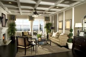 designer decorated living room with fireplace beautiful living room pillar