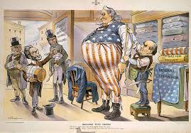 american empire the american yawp tailor president mckinley measures an obese uncle sam for larger clothing while anti expansionists