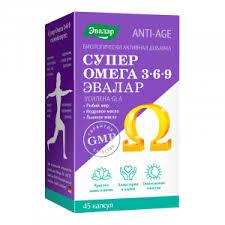 <b>Омега 3-6-9 Супер</b>, Anti-Age, 45 капсул, Эвалар - купить, отзывы ...