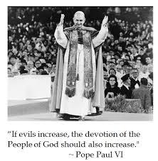 DC-Laus Deo: Pope Paul VI on Evil via Relatably.com