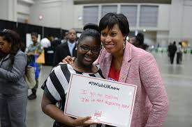 or marion s barry summer youth employment program or muriel bowser at the 2016 mbsyep career fair