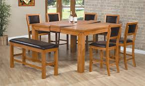 Stone Dining Room Table Rustic Dining Room Table With Bench 6pc Counter Height Dining