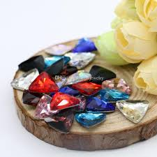 8x8mm Pointback Triangle Glass <b>Crystal</b> Fancy Stone For Jewelry ...