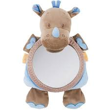 <b>Игрушка мягкая зеркало Nattou Mirror</b> for car Arthur Louis Носорог ...