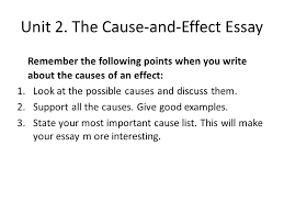 advanced english writing ca unit  the comparison essay  the cause and effect essay remember the following points when you