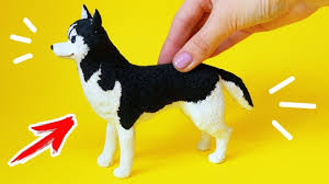 СОБАКА ХАСКИ для КУКОЛ Фигурка DIY !!! <b>Питомцы</b> для кукол из ...