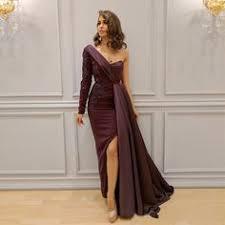 Purple One Shoulder Sheath Prom Dresses <b>2019 Hot Selling</b> ...