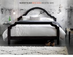 silhouette bed bedroom furniture cb2