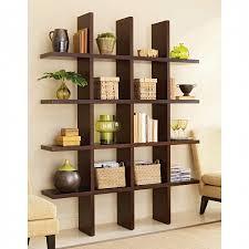 beautiful furniture bookcase design made from dark wooden material in simple yet elegant to unique home bookshelf furniture design