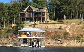 Lake House Plans   Specializing in lake home floor planscraftsman asheville mountain house plan from lake view