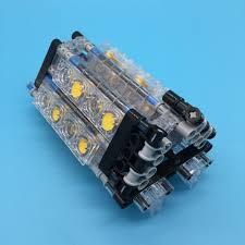 MOC W16 Engine <b>Technic Parts</b> Building Block Toys Engine ...