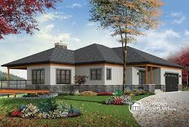 House plan W detail from DrummondHousePlans com    front   BASE MODEL Lakefront house plan  bedrooms  open floor plans  large