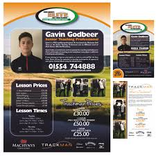 updates aw graphics and design flyer flyers poster posters design golf tuition lessons professional trackman christmas gift vouchers machynys llanelli