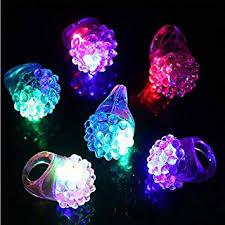 <b>Led</b> Toys <b>12Pcs</b>/<b>Lot Led</b> Light Strawberry Flashing Finger Ring ...