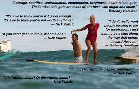 Nick Vujicic Bethany Hamilton Quotes   Flickr - Photo Sharing!