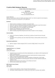 resume template sample for creative web designer with work experience web design resume example