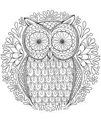 Small Picture Owl Mandala Coloring Page simple Coloring Owl Mandala Coloring