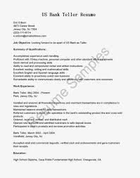 excellent sample of us bank teller resume work experience fullsize