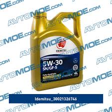 <b>Масло моторное Idemitsu fully</b>-<b>synthetic</b> SN/GF-5 5W-30 4л ...