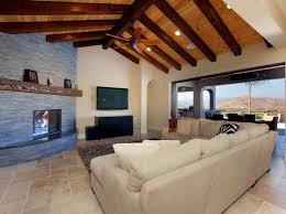 open ceiling living room with exposed beams charming living room fixtures