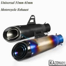 <b>Universal Motorcycle Exhaust</b> 51mm 61mm <b>Pipe</b> Escape Modified ...